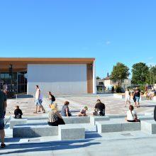 Šventosios centre – moderni viešoji erdvė poilsiui bei pramogoms