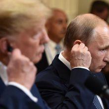 """D. Trumpas sako niekuomet nedirbęs Rusijai ir smerkia """"didelę, storą apgaulę"""""""