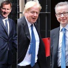 Kovoje dėl JK premjero posto liko trys kandidatai: B. Johnsonas stiprina pozicijas