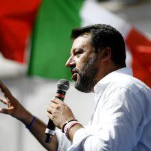 Italijoje M. Salvinis pažadėjo aktyvią opoziciją – planuoja rimtai priešintis