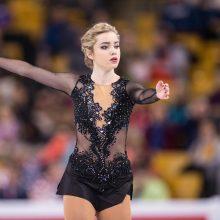 Talentinga čiuožėja po ilgos pertraukos sėkmingai sugrįžo į varžybas