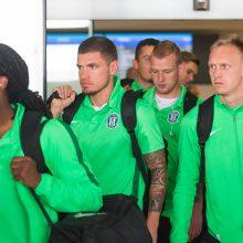 """""""Žalgirio"""" futbolininkai atvyko į Vengriją"""