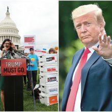 Surinkta 10 mln. amerikiečių parašų dėl D. Trumpo apkaltos
