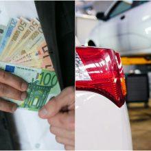 Klaipėdos autoserviso vadovas įtariamas mokesčių slėpimu ir algų vokeliuose mokėjimu