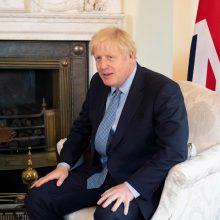 """B. Johnsonas: susitarimas dėl """"Brexit"""" – pasiektas"""