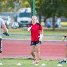 Moterų futbolo rinktinės kapitonė G. Lukjančukė: mes būsime pasiruošusios