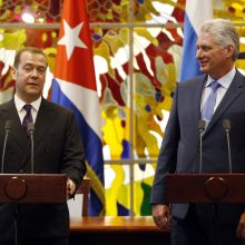Rusijos premjeras D. Medvedevas: Kuba gali pasikliauti Maskva