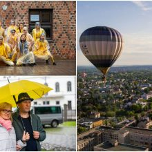 Gimtadienio staigmenas Kaune papildęs lietus koregavo renginių programą, bet ne šventinę nuotaiką