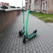 Siautėjantis paspirtukų vagis pasipelnė ir Klaipėdoje