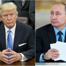 D. Trumpas tvirtina besitikintis Japonijoje susitikti su V. Putinu