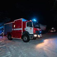 Ugniagesiams teko gelbėti tvenkinyje Tauragės rajone skendusį vyrą