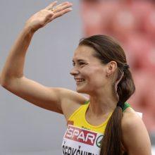 Bėgikė A. Šerkšnienė varžybose Šveicarijoje – trečia