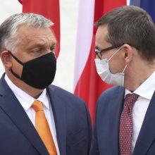 Lenkų ir vengrų premjerai aptars ES biudžeto vetavimo strategiją