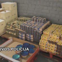 Klaipėdos kriminalistai aptiko nelegaliai laikomų prekių sandėlį
