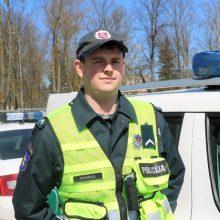 Klaipėdos patrulis ne tarnybos metu sulaikė visiškai girtą vairuotoją