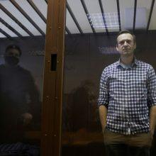 Kalinamas Rusijos opozicionierius A. Navalnas paskelbė bado streiką