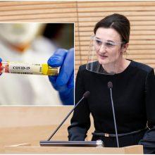 Seimo pirmininkei V. Čmilytei-Nielsen nustatytas koronavirusas