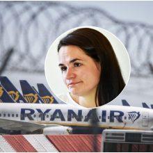 S. Cichanouskaja: režimas užgrobė lėktuvą, kad sulaikytų Baltarusijos žurnalistą