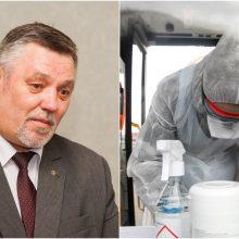 V. Zimnickas: atskraidintų reagentų koronaviruso tyrimams užteks savaitei