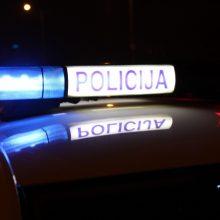 Biržuose į avariją pateko su švyturėliais važiavęs policijos automobilis