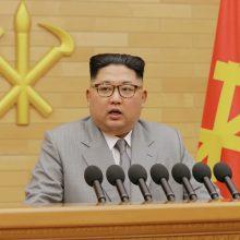 Šiaurės Korėjos lyderis sušaukė retą valdančiosios partijos suvažiavimą