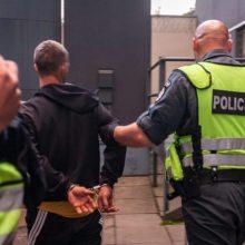 Klaipėdoje į ligoninę guldomas sulaikytasis spyrė policininkui