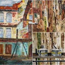 N. Vaitkaus vaizduotės instaliacijos: meno mylėtojams – vitražo įkvėpta tapyba