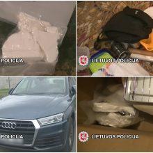 Klaipėdiečio garaže rasta 130 tūkst. eurų vertės kokaino