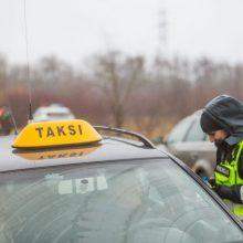 Klaipėdoje sulaikytas sunkiai apgirtęs taksistas