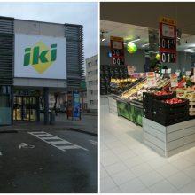 """""""Iki"""" toliau atsinaujina – rekonstravo parduotuvę Jurbarke"""