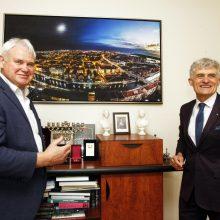 Oficialus vadovų susitikimas: miestas ir uostas tikisi bendradarbiavimo