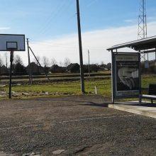 Internautai ūžia dėl kurioziško vaizdo: vaikai priversti žaisti krepšinį autobusų stotelėje