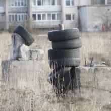 Klaipėdiečiai be skrupulų teršia miestą: atsikrato senomis padangomis, šiukšlėmis