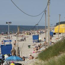 Uostamiesčio paplūdimiuose – pasiruošimas vasarai