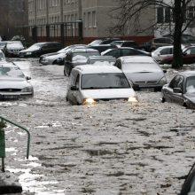 Filosofinis klausimas: kodėl Klaipėdos mieste kyla potvyniai?
