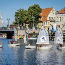 Dangėje netrūks optimizmo: upėje – azartiškos jachtų varžybos