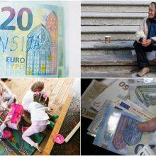 Pokyčiai kitais metais: turėtų augti ir vaiko pinigai, ir minimali alga, ir pensijos