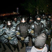 Jekaterinburge per protestą prieš cerkvės statybas prasiveržė smurtas