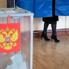 Rusijos CRK: rinkėjų aktyvumas parlamento rinkimų trečią balsavimo dieną viršijo 45 proc.