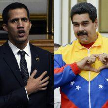 J. Guaido paskelbė, kad vyriausybė surengs derybas su N. Maduro