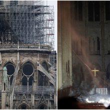 Milžiniškas gaisras Paryžiaus Dievo Motinos katedroje – užgesintas: vyksta tyrimas
