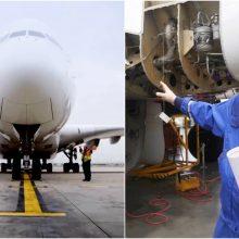 Specialistai atskleidė, kaip Lietuvoje remontuojami lėktuvai