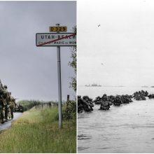 Pasaulio lyderiai mini sąjungininkų pajėgų išsilaipinimo Normandijoje metines