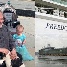 Iš kruizinio laivo iškritusios mažylės šeima piktinasi: kodėl buvo atviras langas?