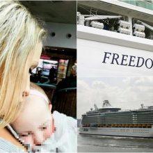 Širdį verianti nelaimė kruiziniame laive: žuvo iš senelio rankų išslydusi mergaitė
