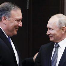 M. Pompeo: JAV ir Rusijos tikslai dėl Šiaurės Korėjos sutampa