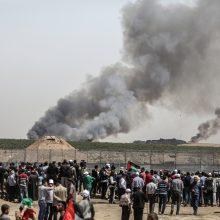 Per konfrontaciją Gazos pasienyje sužeista 30 žmonių