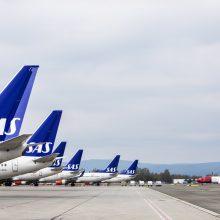 Dėl SAS pilotų streiko Skandinavijoje atšaukiami skrydžiai
