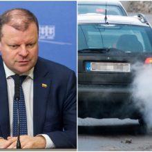 Premjeras apie oro taršos mažinimo planą: orientacija į žmonių skatinimą, ne baudimą