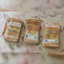 Iš slėptuvės senolio bute 16 tūkst. eurų pavogęs tauragiškis grobiu džiaugėsi neilgai